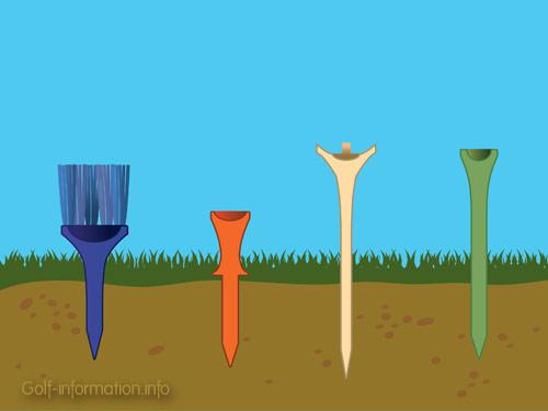 Golf Tees illustration © Matias Rafael Mendiola for Golf-information.info.